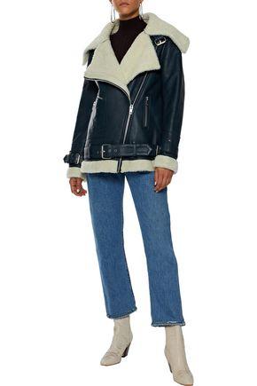 W118 by WALTER BAKER Celine shearling biker jacket