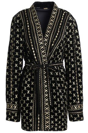 DODO BAR OR Belted embroidered chenille jacket