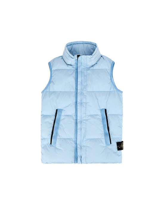 Waistcoat G0133 CRINKLE REPS NY DOWN GARMENT DYED STONE ISLAND JUNIOR - 0