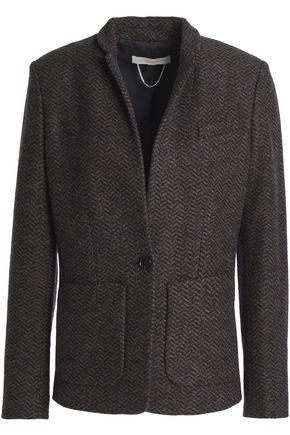 VANESSA BRUNO Herringbone wool-blend blazer