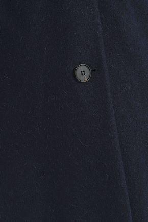 VANESSA BRUNO Brushed wool and alpaca-blend coat