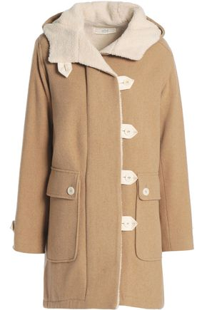 VANESSA BRUNO ATHE' Faux shearling-lined wool-blend coat
