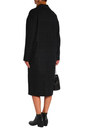 VANESSA BRUNO ATHE' Checked wool-blend coat