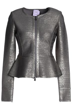 HERVÉ LÉGER Roselin metallic bandage peplum jacket