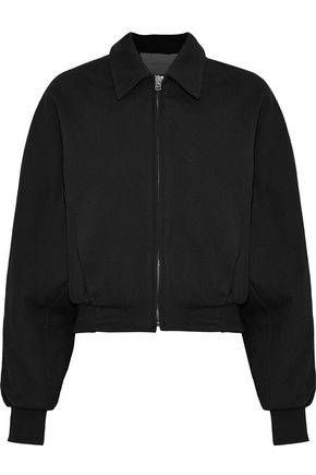 CEDRIC CHARLIER Cotton and wool-blend bomber jacket