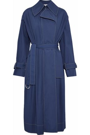 CEDRIC CHARLIER Pintucked cotton-blend trench coat