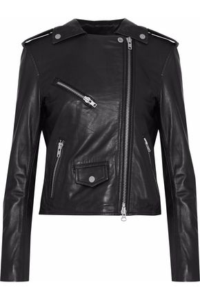 MUUBAA Healy Chain leather biker jacket