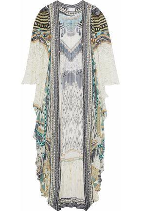 CAMILLA Weave On embellished printed silk crepe de chine kimono