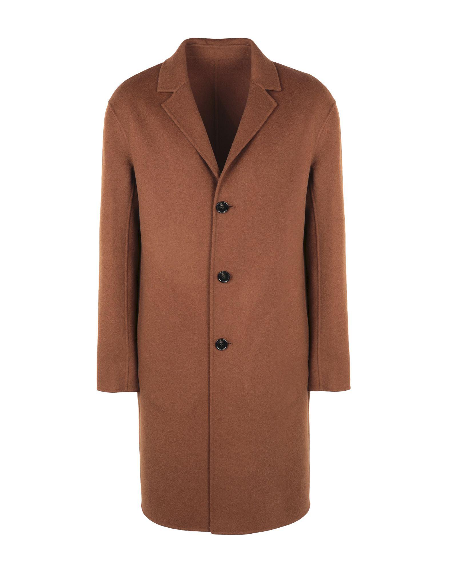《期間限定セール中》ESSENTIEL ANTWERP メンズ コート ブラウン 50 ウール 85% / カシミヤ 15% LUCKY