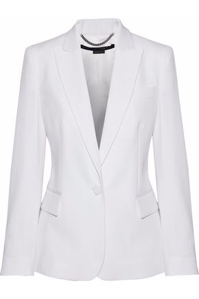 Faille Trimmed Wool Twill Blazer by Stella Mc Cartney