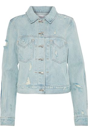DEREK LAM Distressed denim jacket