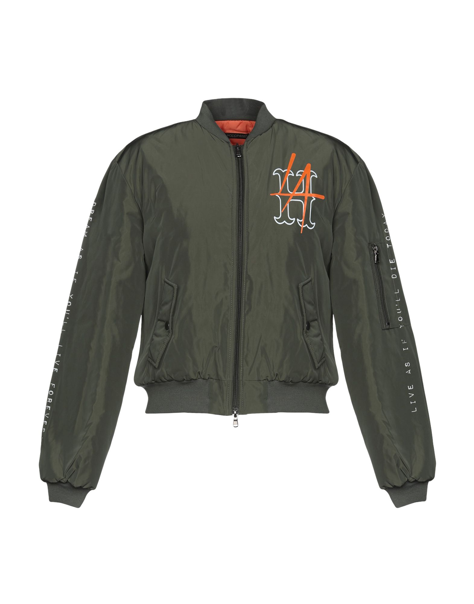 HAPPINESS Synthetic Down Jackets in Military Green