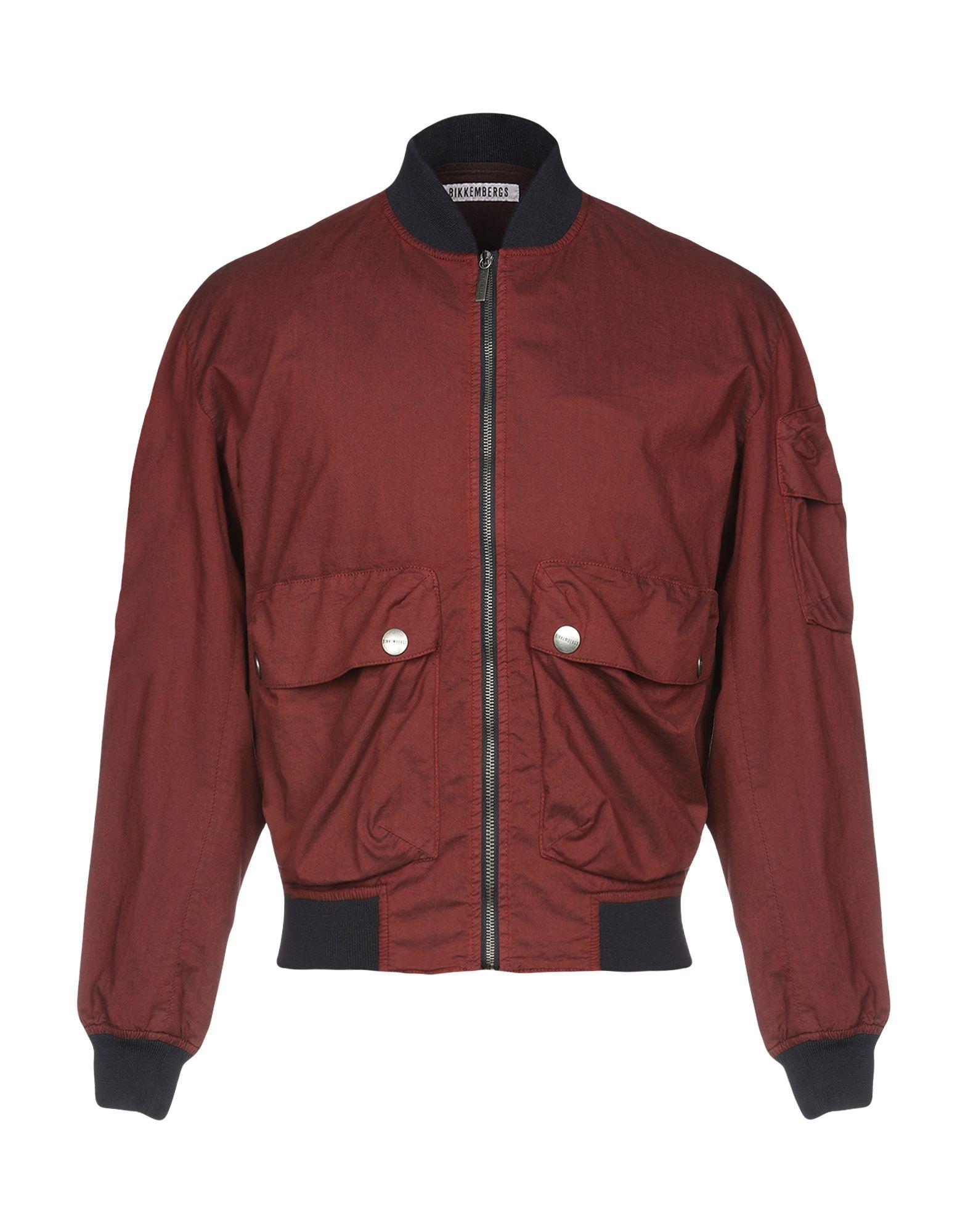 BIKKEMBERGS Jackets in Maroon