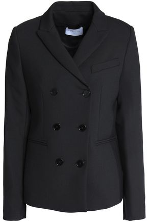 SANDRO Double-breasted twill blazer