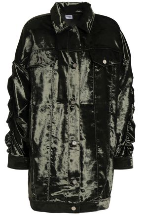 OPENING CEREMONY Ruched velvet jacket