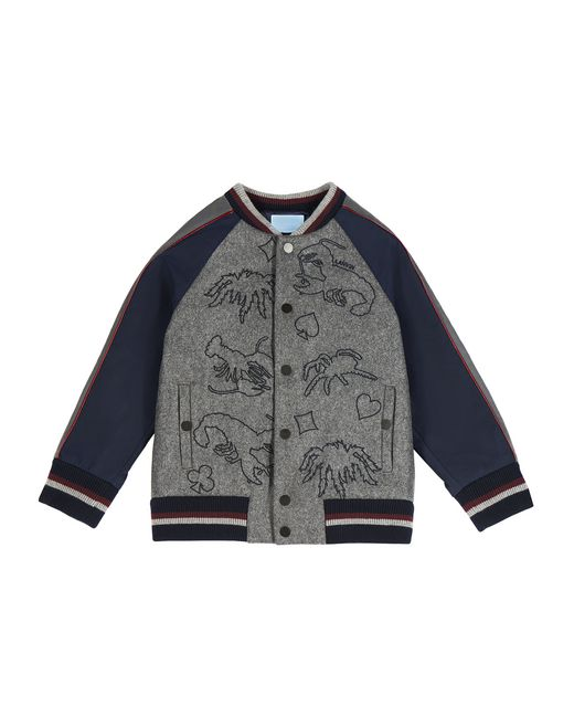 GRAY PATTERNED JACKET  - Lanvin