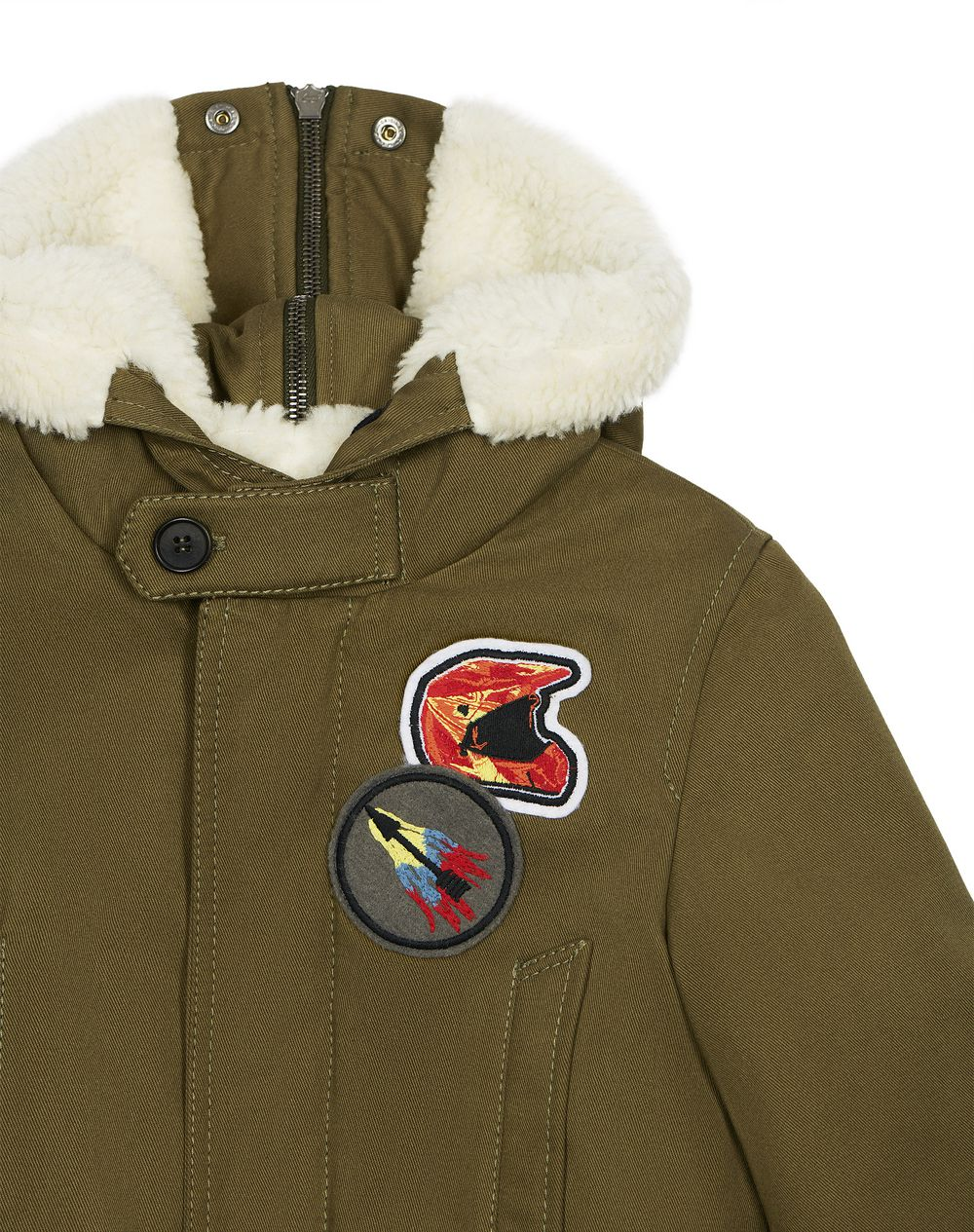 KHAKI PATCH PARKA  - Lanvin