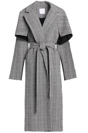 CHRISTOPHER ESBER Gingham cotton-blend seersucker coat