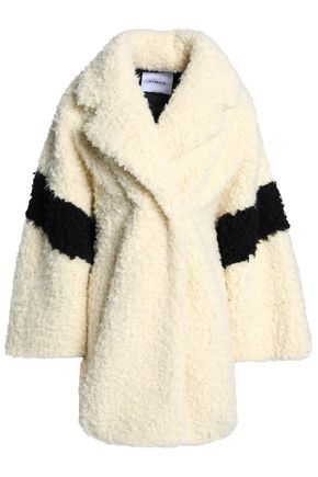 AINEA Two-tone faux shearling coat