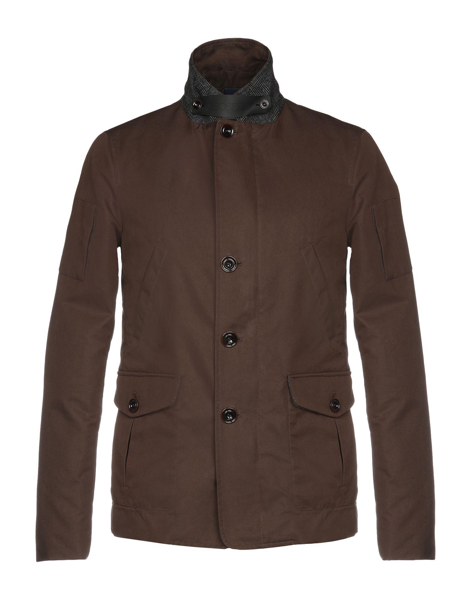 GEOSPIRIT Down Jackets in Dark Brown