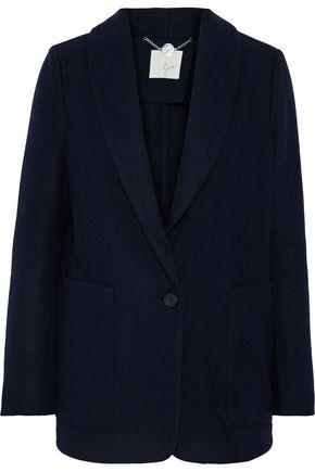 JOIE Jemora suede-appliquéd felt blazer