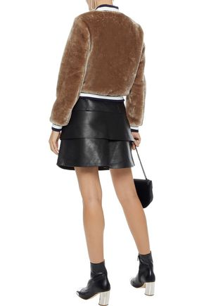 JOIE Arleigh faux fur bomber jacket
