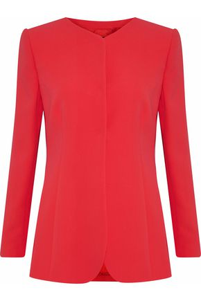 GIORGIO ARMANI Pleated silk-crepe jacket