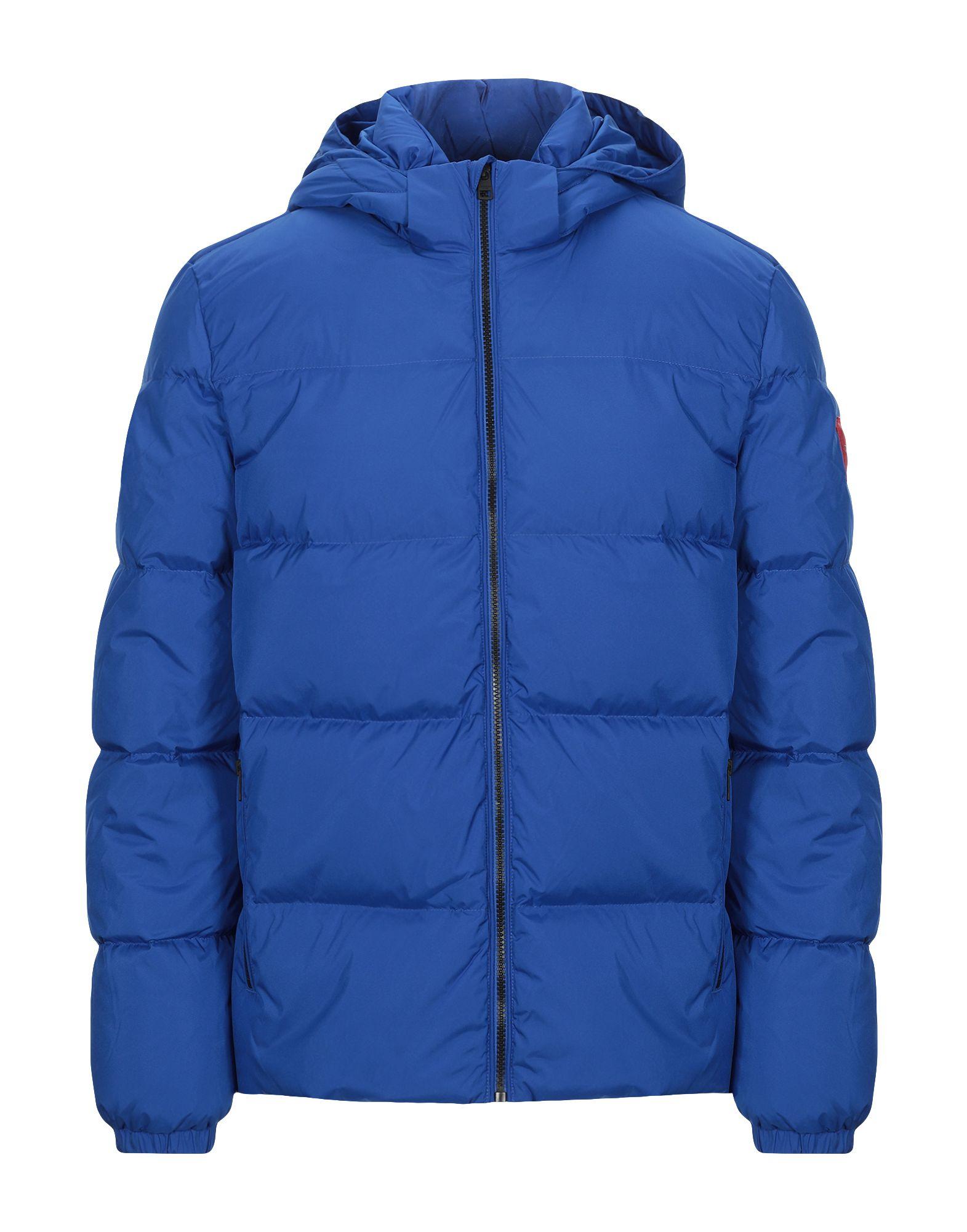 《セール開催中》CALVIN KLEIN JEANS メンズ ダウンジャケット ブライトブルー XL ポリエステル 100% HOODED DOWN JACKET