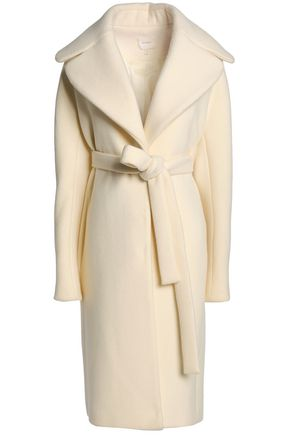 DELPOZO Brushed wool and mohair-blend coat
