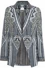 CAMILLA Tribal Theory embellished printed twill blazer