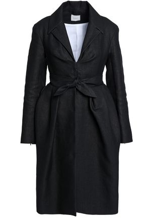 DELPOZO Tie-front pleated woven coat