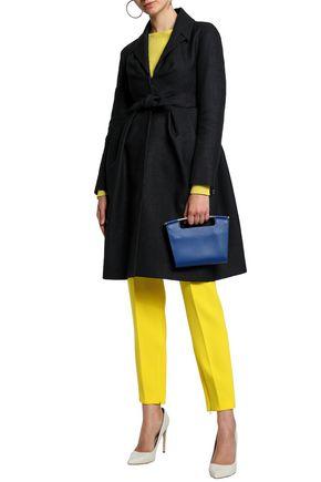 DELPOZO Tie-front pleated woven coat