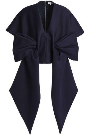 DELPOZO Bow-embellished neoprene top