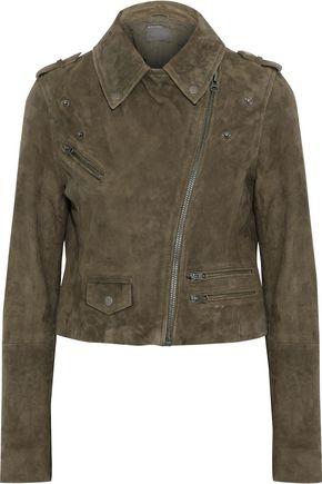 MUUBAA Cropped suede biker jacket