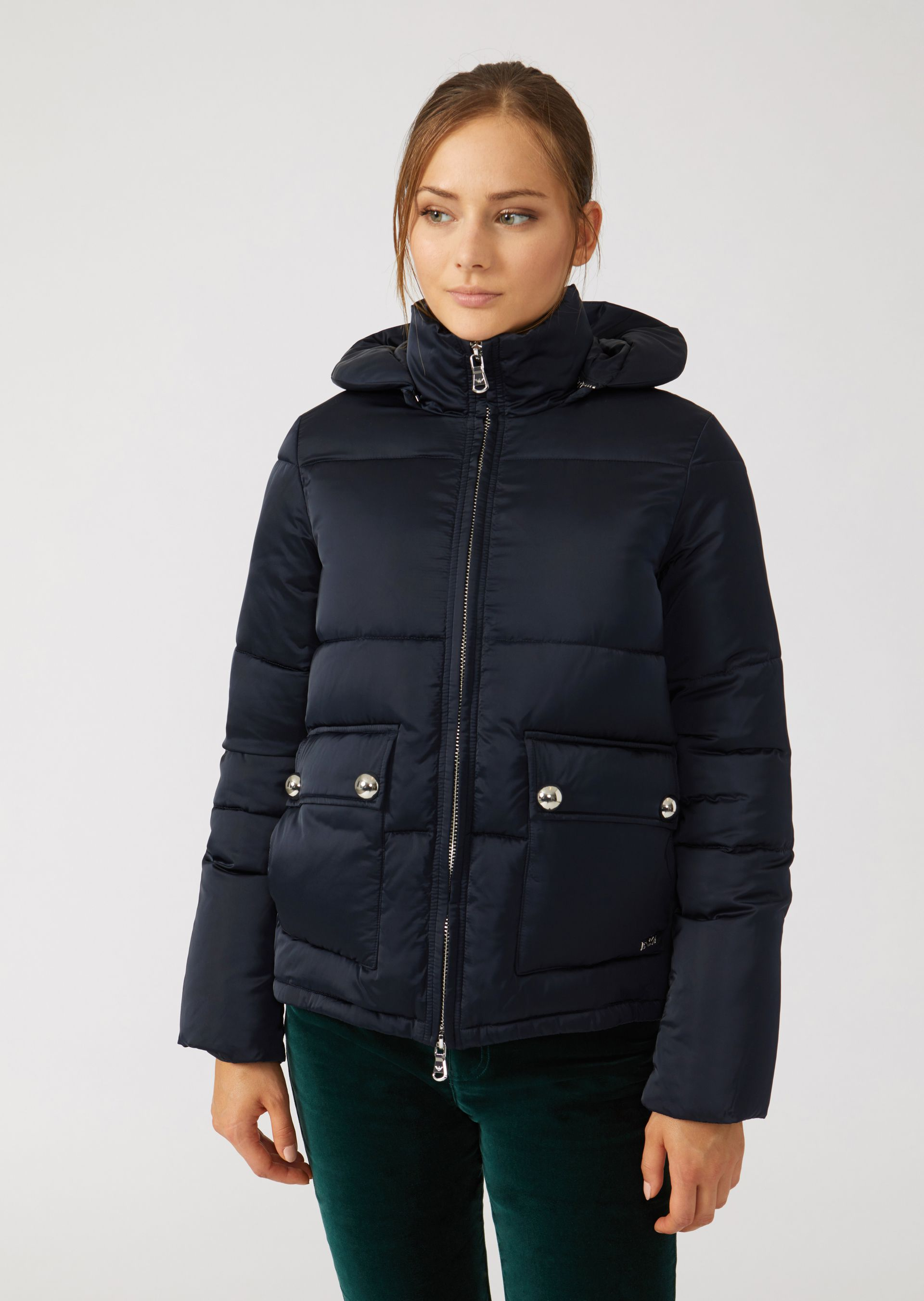 Down Jackets - Item 41843593, Navy Blue from ARMANI.COM