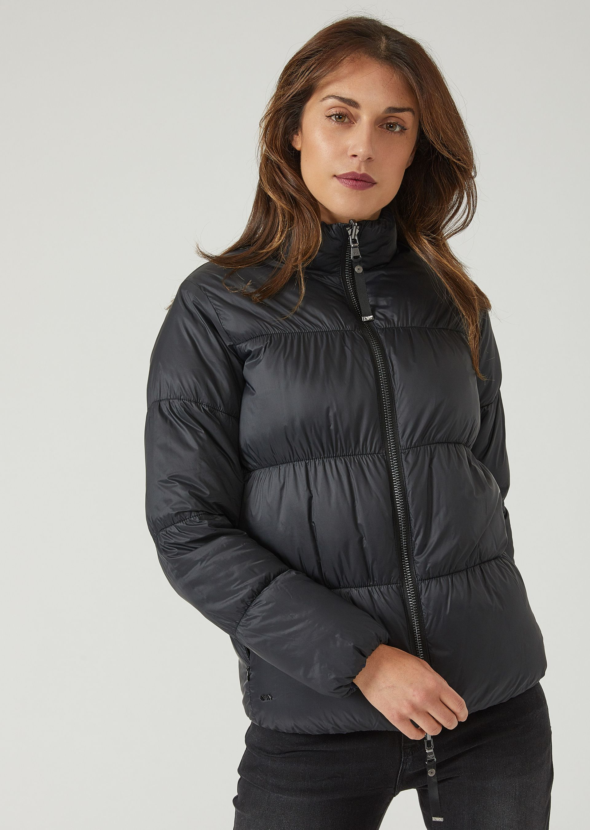 Down Jackets - Item 41843989, Navy Blue from ARMANI.COM