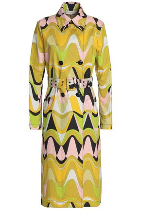EMILIO PUCCI Printed cotton-blend canvas trench coat