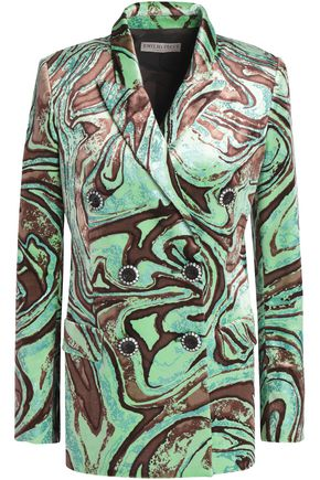 EMILIO PUCCI Double-breasted printed velvet blazer