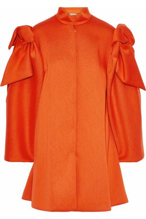 DELPOZO Bow-embellished neoprene coat
