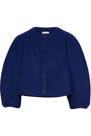 DELPOZO Cropped wool-felt jacket