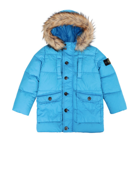 STONE ISLAND KIDS Mid-length jacket 40233 GARMENT-DYED CRINKLE REPS NY DOWN