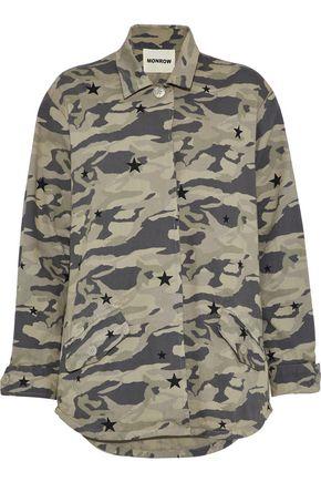 MONROW Printed cotton-twill jacket