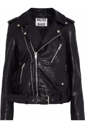 W118 by WALTER BAKER Kingsley crinkled-leather biker jacket