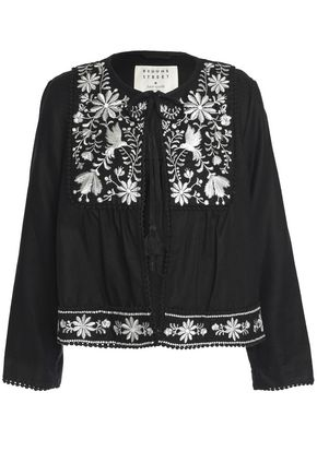 KATE SPADE New York Broome Street embroidered twill jacket