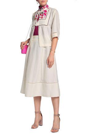KATE SPADE New York Embroidered linen-blend jacket
