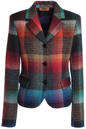 MISSONI Checked wool-blend blazer