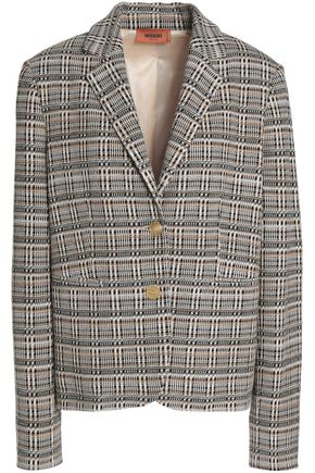 MISSONI Checked jacquard-knit wool-blend blazer