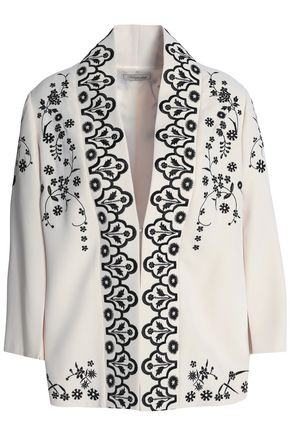 TEMPERLEY LONDON Lettie embroidered crepe jacket