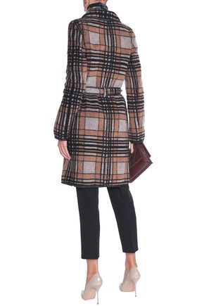 MISSONI Belted checked bouclé-knit coat
