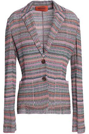 MISSONI Metallic crochet-knit blazer